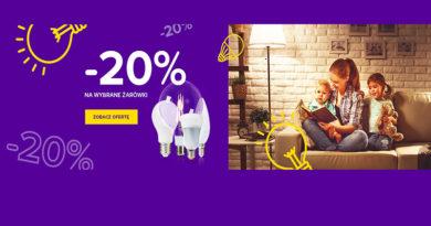 Rabat 20% na wybrane żarówki w sklepie Castorama