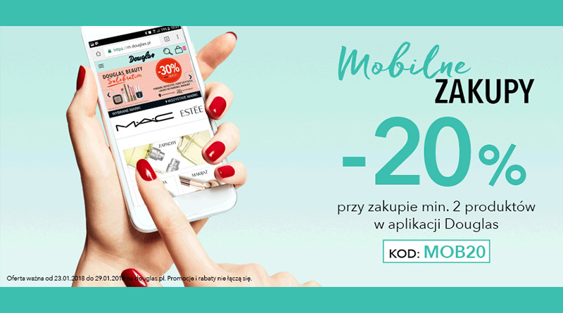 Mobilne zakupy z rabatem 20% w Douglas