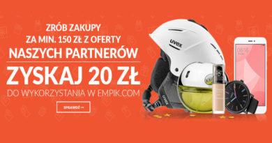 Zyskaj 20 zł do wykorzystania w Empik.com