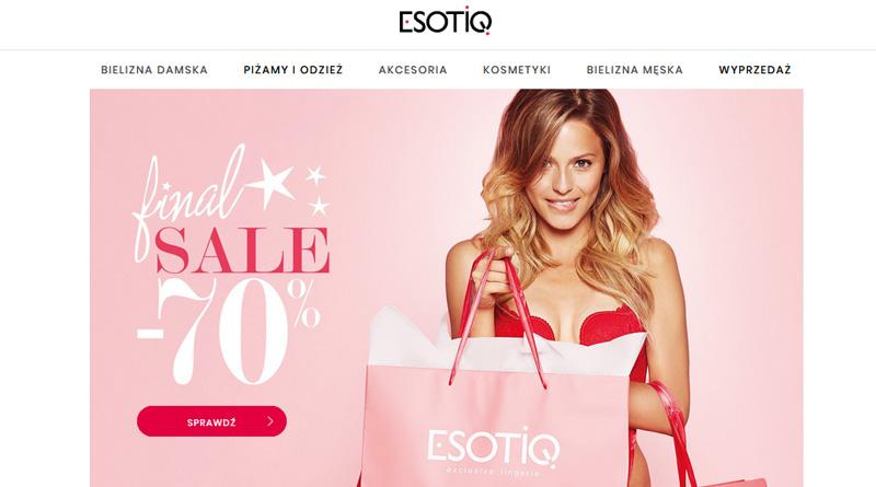 Final sale do -70% w sklepie Esotiq