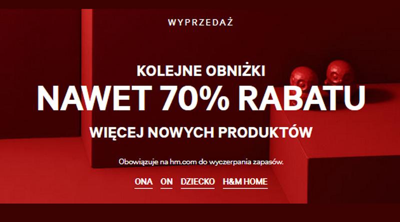 Rabaty do -70% w sklepie H&M