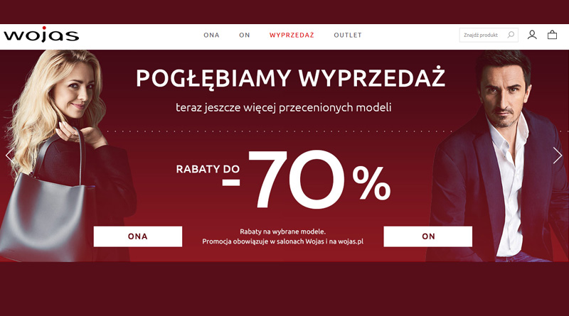 Rabaty do -70% w sklepie Wojas