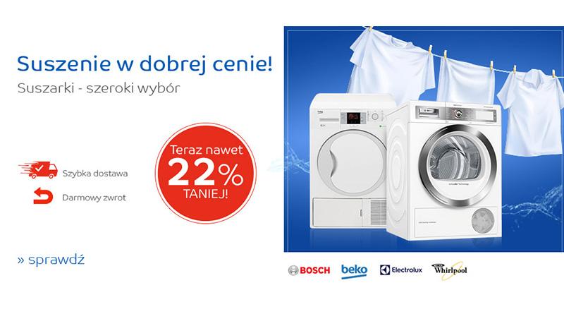 Suszarki taniej nawet do 22% na eMag.pl