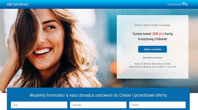 300 zł Cashbacku od Citibanku za założenie karty Citi Simplicity