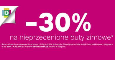 Rabat -30% na buty zimowe w Deichmann