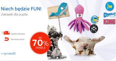 Zabawki dla pupila do 70% taniej na eMag.pl
