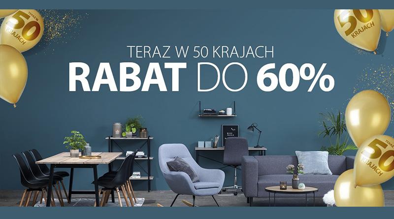 Rabat do 60% w sklepie Jysk