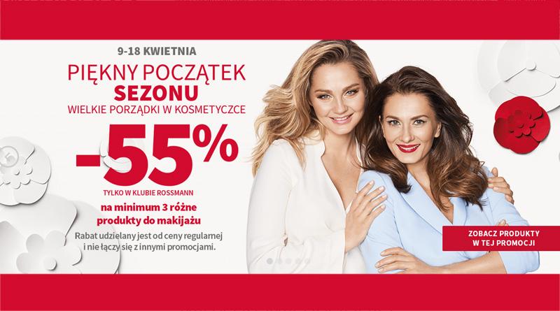 Rabat 55% na produkty do makijażu w Klubie Rossmann