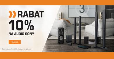 Rabat 10% na Audio Sony w sklepie Saturn