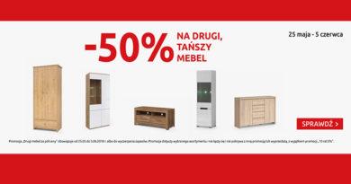 Rabat 50% na drugi mebel w Black Red White