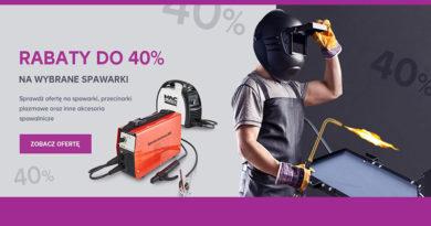 Rabaty do 40% na spawarki w sklepie Castorama