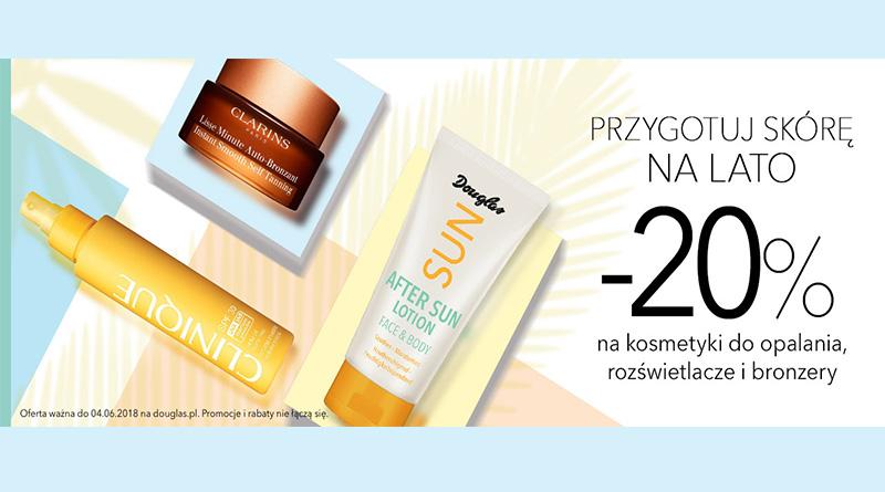 Rabat 20% na kosmetyki do opalania w Douglas