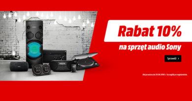 Rabat 10% na sprzęt audio Sony