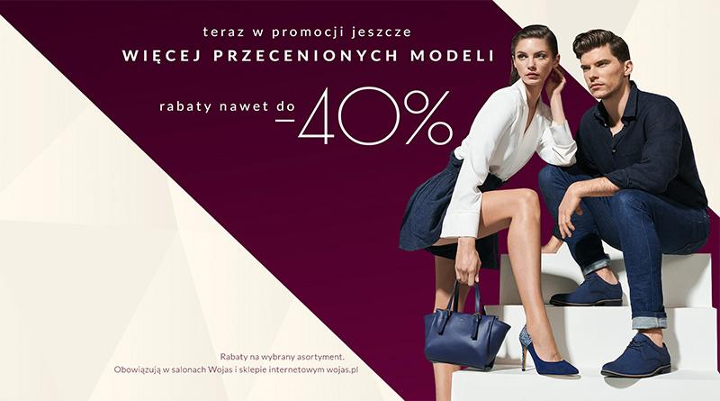 Rabaty do 40% taniej w sklepie Wojas