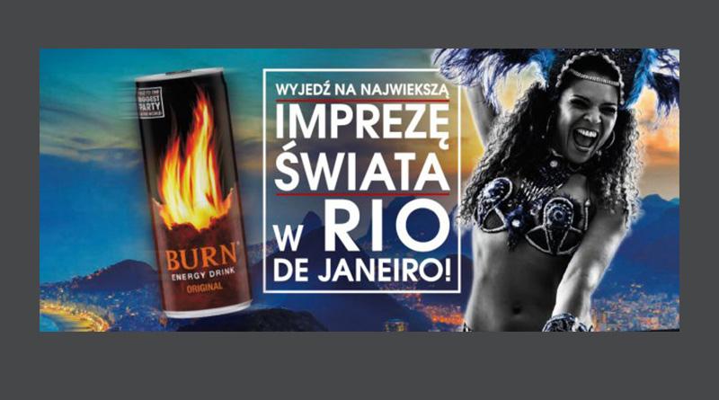 Loteria Burn: Wygraj wyjazd na imprezę do Rio de Janerio
