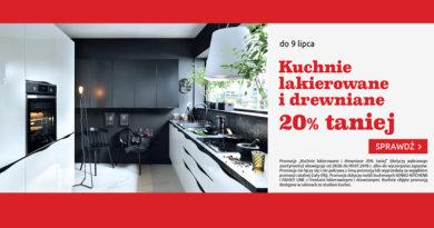 Kuchnie 20% taniej w Black Red White