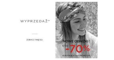 Wyprzedaż do -70% w sklepie Promod