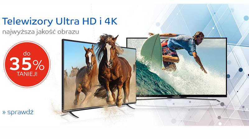 Telewizory ultra HD i 4K do 35% taniej na eMag.pl