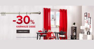 Rabat do -30% na karnisze w sklepie Castorama