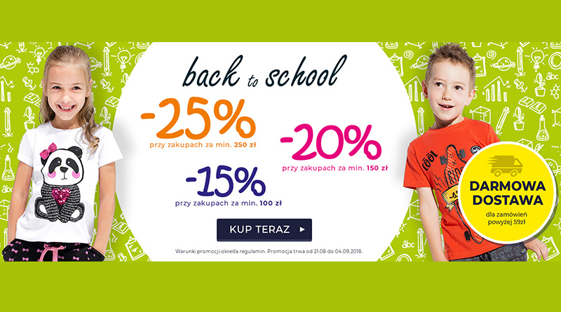 Back to school z rabatami do 25% taniej w Coccodrillo