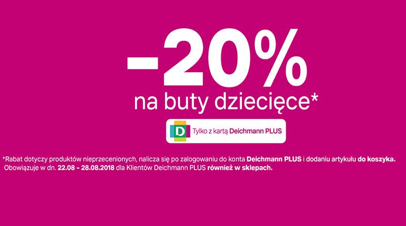 Rabat -20% na buty dziecięce w sklepie Deichmann
