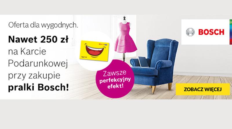 Kup pralkę Bosch i odbierz nawet 250 zł w RTV euro AGD