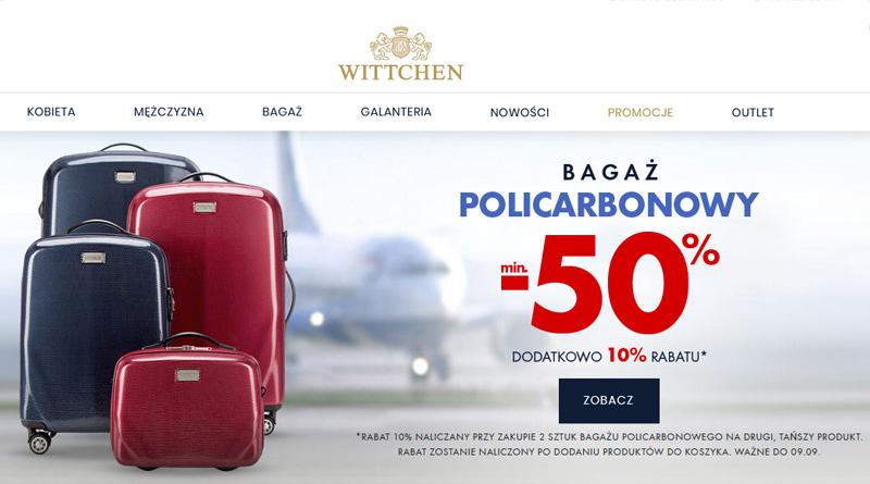 Bagaż policarbonowy 50% taniej w Wittchen