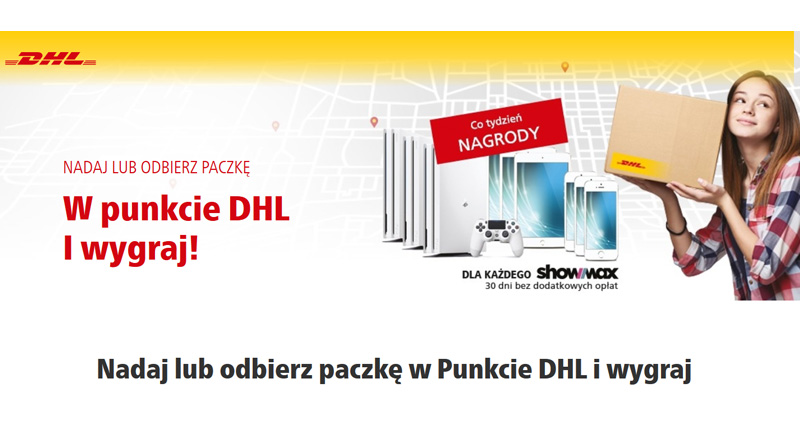 Konkurs DHL: Nadaj lub odbierz paczkę, wygraj nagrody