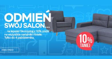 Odmień swój salon i skorzystaj z 10% zniżki w salonie Abra Meble
