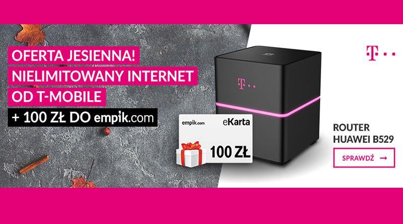 Internet od T-Mobile i 100 zł do sklepu Empik.com