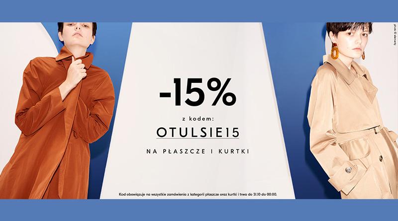 Rabat 15% na kurtki i płaszcze w Showroom
