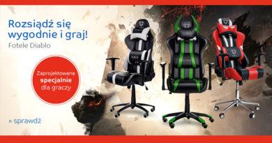 Fotele Diablo specjalnie dla graczy na eMag.pl