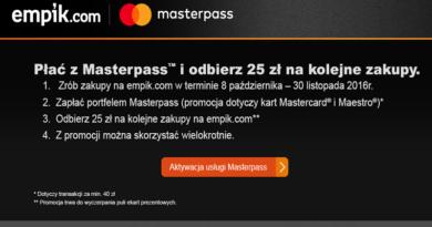 promocja empik masterpass 2016