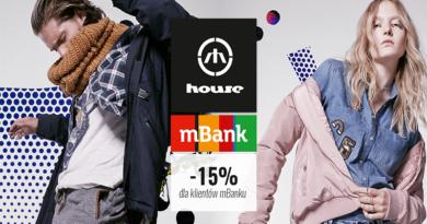 promocja house 15% rabatu dla klientów mbanku