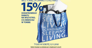 Promocja Jysk: Weź torbę za darmo i otrzymaj 15% rabatu na jej zawartość