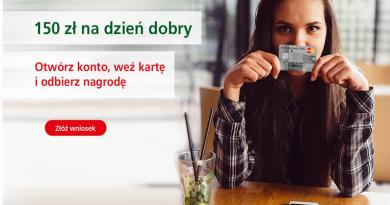 Promocja BZWBK: 150 złotych na dzień dobry
