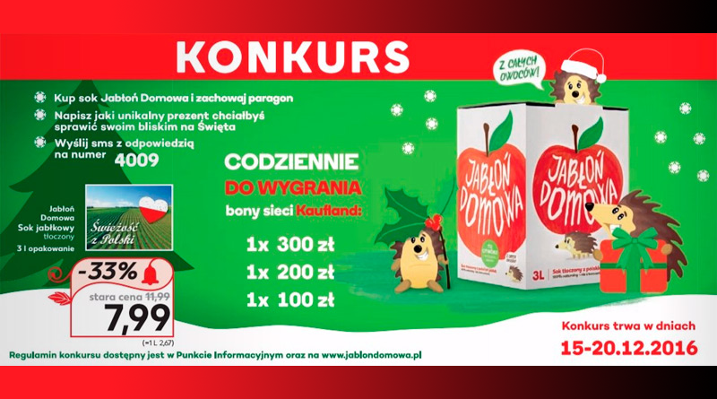 Konkurs Kaufland Jabłoń domowa pod choinkę