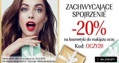 Promocja Douglas -20% na kosmetyki do makijażu oczu