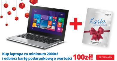 Promocja Komputronik Kup laptopa i odbierz kartę o wartości 100 zł