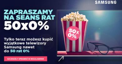 Promocja Komputronik Telewizory Samsung i seans rat 50x 0%