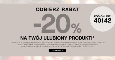 Promocja Orsay Odbierz rabat -20% na Twój ulubiony produkt