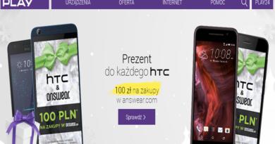 Promocja Play Prezent do każdego hTC! 100 zł na zakupy