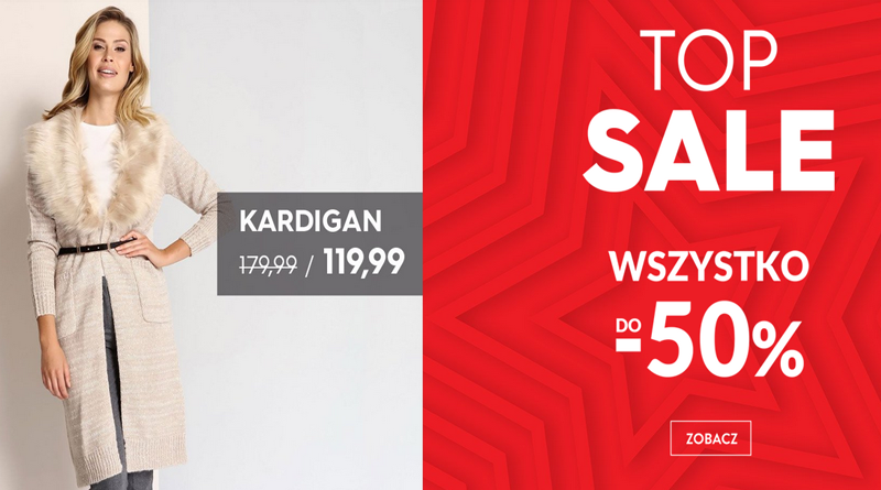 Promocja Top Secret Wszystkie produkty w TOP SALE do -50%