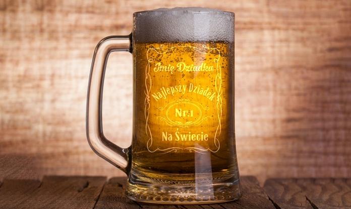 Personalizowany kufel szklany lub ceramiczny