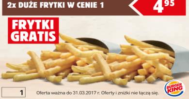 Kupony promocyjne Burger King Styczeń 2017