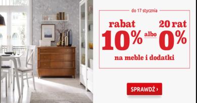 Promocja Black Red White: Rabat 10% albo 20 rat 0% na meble i dodatki
