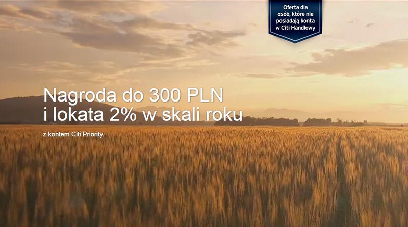 Promocja Citibank Nagroda na powitanie. Do 300 zł premii za założenie konta Citi Priority