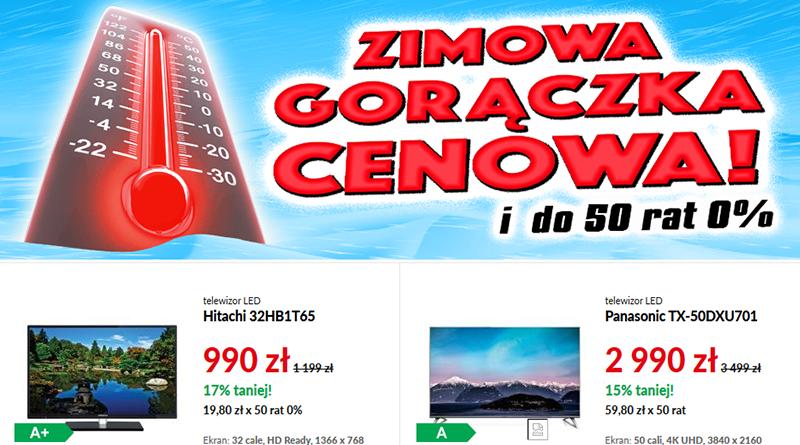 Promocja RTV Euro AGD Zimowa gorączka cenowa i do 50 rat 0%
