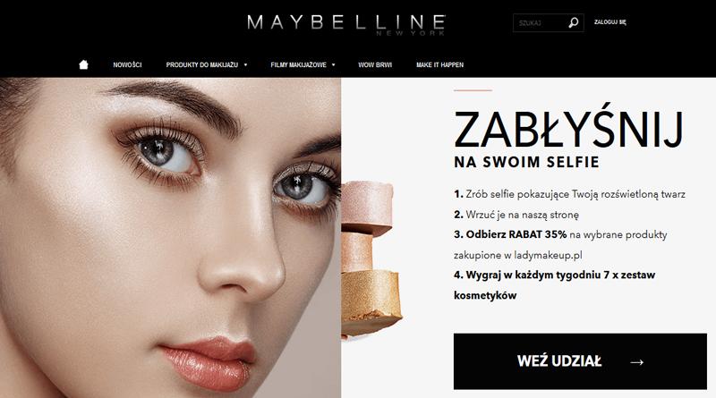 Konkurs Maybelline Zabłyśnij na swoim selfie