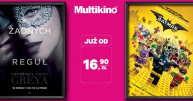 Promocja Multikino Bilet na dowolny seans 2D od 16,90 zł